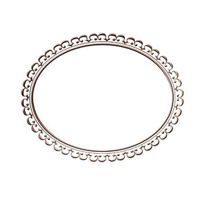 Horizontal oval frame 4