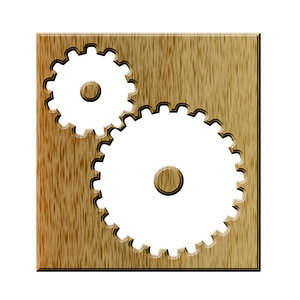 Gears pictogram 1: Sprocket is a profiled wheel with teeth that meshes with a chain, track or other perforated or indented material
