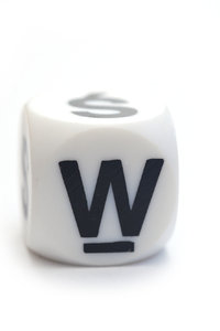 Character W on the dice