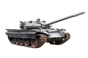 Main battle tank T 55 AMS from: T-55AMS is version without armour on the hull front, can be fitted with mine-clearing systems ZB/WLWD or KMT-5 or a dozer blade USCz-55. One per company.