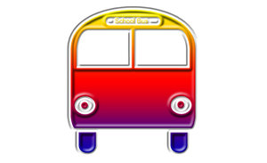 School bus pictogram 1