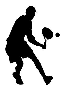 Tennis 4: Silhouette of player