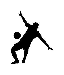 Football 2: Silhouette of soccer player