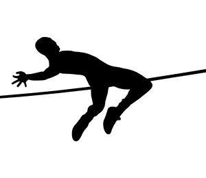 High jump 2: Sportsman silhouette
