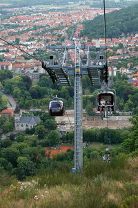 Ride by cable-railway 3: Rope-way in Thale, Harz Mountain, Germany