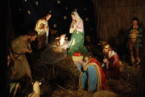 Nativity scene in polish churc