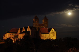Castle Hill in Quedlinburg at