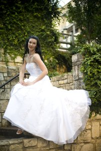 Tera: Tera in a wedding gown.