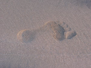 footprint on sand