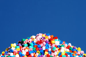 Pile of plastic beads