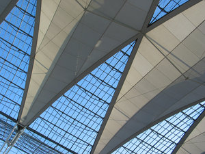 Airport Roof: Outdoor roof at Munich airport.