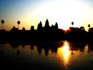 Angor Sunrise: Angor wat sunrise @5 am