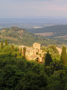 tuscany - montepulciano: view west from montepulciano, tuscany -