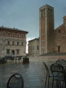 montepulciano - tuscany: shots were taken spring 08 at a tuskany shorttrip - short shower in montepulciano