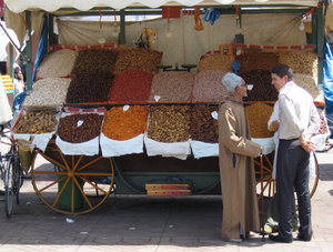 Marrakesh fruit & nut stall