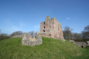 Norham Castle 2: Commanding a vital ford over the River Tweed, Norham was one of the strongest of the border castles, and the most often attacked by the Scots. Besieged at least 13 times – once for nearly a year by Robert Bruce – it was called 'the most dangerous an
