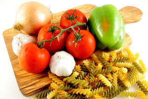Healthy Pasta Meal Ingredients