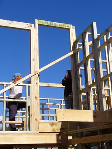 House framing with builders