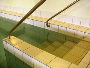 Spa pool: steps into public spa pool for adults only.  Also used for private baptisms.