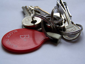 Blood donor's keys