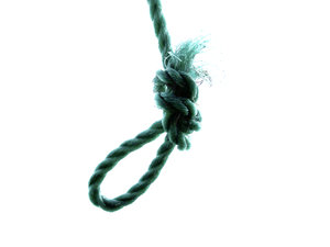 Loopy: rope knotted into a loop