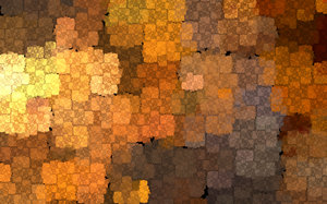 Copper mosaic: Copper mosaic, rendered using Apophysis.