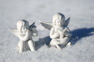 Little angels on the snow