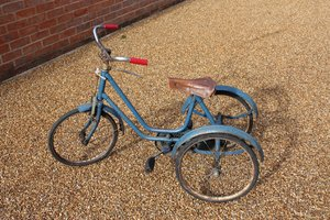 Tricycle: An old fashioned tricycle