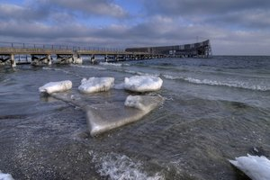 Pier in ice - HDR