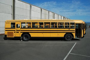Yellow school bus: Yellow school bus, USA.