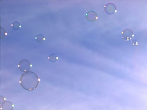 Bubbles: Caught these bubbles playing with the sun