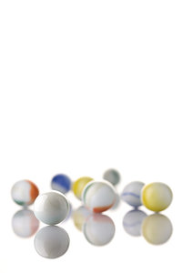White Toy Marbles