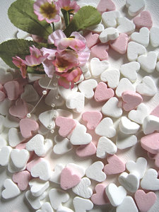Pink candy hearts