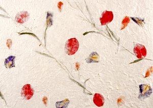 Handmade Paper with Flowers