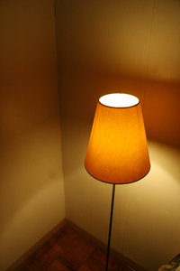lamp shade: good night...