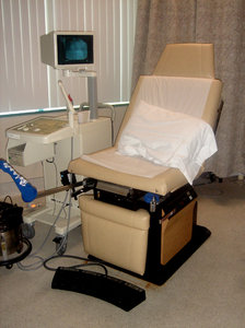 OB GYN: chair at an OB GYN clinic