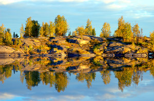 Yellowknife Reflections 2: Here are some morning 6am morning shots in August