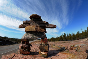 Inukshuk: Taken in Northern Canada near Yellowknife