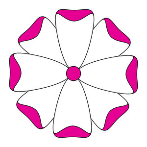 geometric flower 18: vector flower