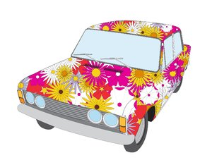 peace car: car draw