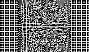 Warp: Black and white 3d warp pattern.