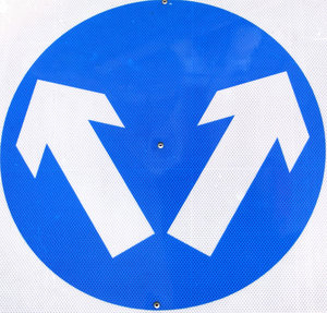 which way?: street sign giving two directions