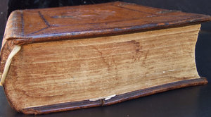 old Dutch Bible 5: large antique leather bound Bible