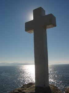Crosses 1: White crosses in the seashore