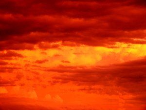 Spectacular Sky: Amazing cloud formations and colours during a sunset. We now live in a place that seems to produce these more often. A feast for the eyes.