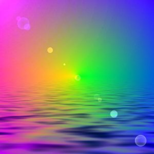 Rainbow, Water, Lensflare