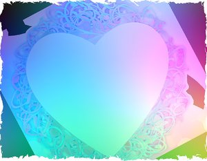 Valentine Grunge 2: A grungy Valentine image with heart in pastel shades. No redistribution is allowed of any of my images.