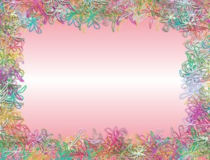Scribbly Floral Border: Scribble flowers and shapes in a border. Would ...
