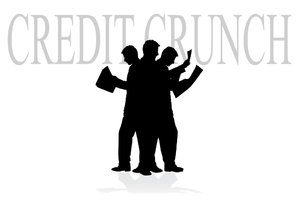 Credit Crunch: Credit crunch concept illustration