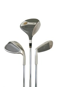 Golf Clubs: Golf clubs isolated over white
